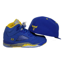 Load image into Gallery viewer, Matching New Era Chicago Bulls Fitted Hat for Jordan 5 Laney Varsity Royal