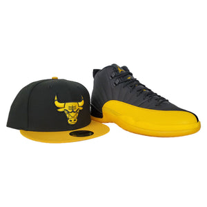 Matching New Era Chicago Bulls Fitted for Jordan 12 University Gold