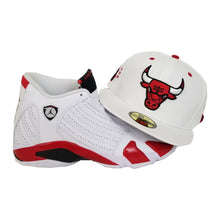 Load image into Gallery viewer, Matching New Era Chicago Bulls Fitted for Jordan 14 Candy Cane