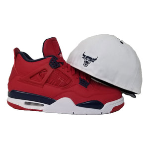 Matching New Era Chicago Bulls Fitted hat for Jordan 4 FIBA