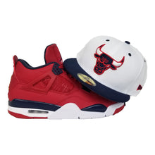 Load image into Gallery viewer, Matching New Era Chicago Bulls Fitted hat for Jordan 4 FIBA