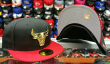 Load image into Gallery viewer, Matching New Era Chicago Bulls Metal Badge fitted Hat for Jordan 7 Doernbecher