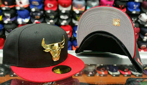 Matching New Era Chicago Bulls Metal Badge fitted Hat for Jordan 7 Doernbecher