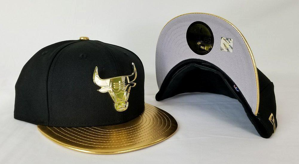 Matching New Era Chicago Bulls Metal logo Fitted Hat for Nike Foamposite Gold Foams
