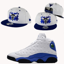 Load image into Gallery viewer, Matching New Era Chicago Bulls Puzzle Snapback Hat for Jordan 13 Hyper Blue