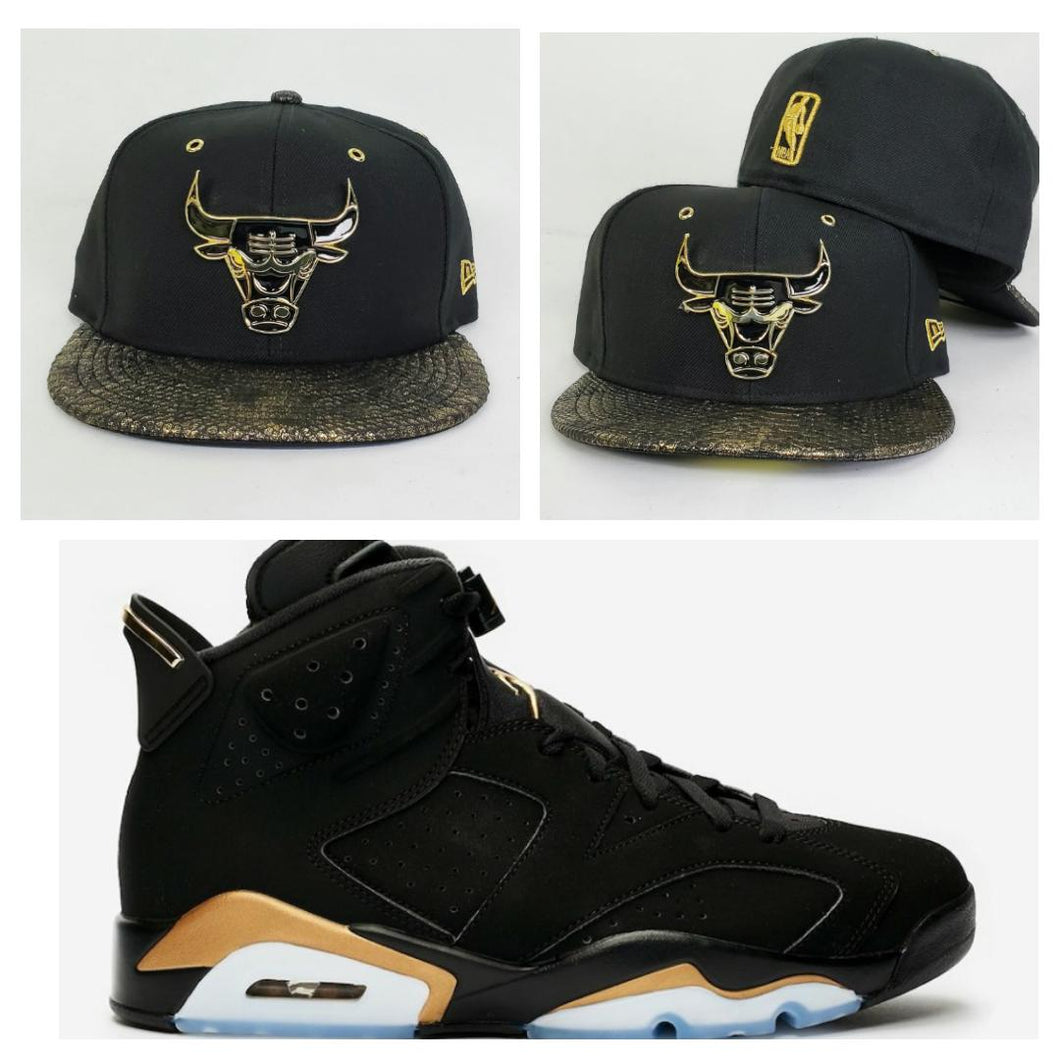 Matching New Era Chicago Bulls Snakeskin Fitted Hat for Jordan 6 DMP