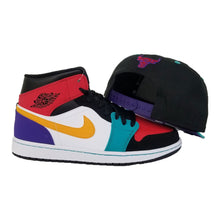 Load image into Gallery viewer, Matching New Era Chicago Bulls Snapback Hat For Jordan 1 Mid Bred Multi-Color