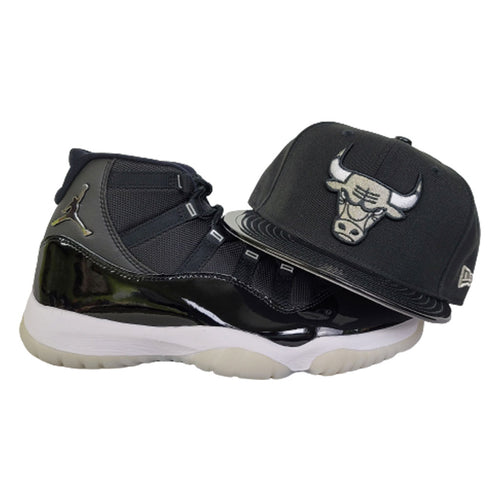 Matching New Era Chicago Bulls Snapback Hat For Jordan 11 Jubilee