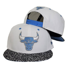Load image into Gallery viewer, Matching New Era Chicago Bulls Snapback Hat For Jordan 3 UNC