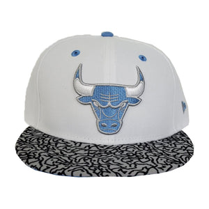 Matching New Era Chicago Bulls Snapback Hat For Jordan 3 UNC
