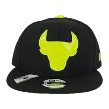 Load image into Gallery viewer, Matching New Era Chicago Bulls Snapback Hat For Jordan 4 Neon
