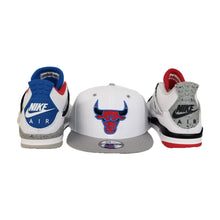 Load image into Gallery viewer, Matching New Era Chicago Bulls Snapback Hat For Jordan 4 What The