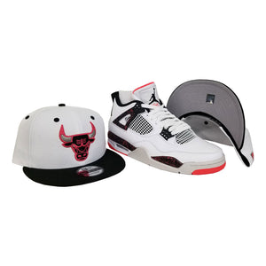 Matching New Era Chicago Bulls Snapback for Jordan 4 Flight Nostalgia