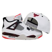 Load image into Gallery viewer, Matching New Era Chicago Bulls Snapback for Jordan 4 Flight Nostalgia