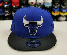Load image into Gallery viewer, Matching New Era Chicago Bulls snapback Hat for Jordan 5 Royal Blue Suede CAP