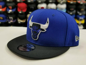 Matching New Era Chicago Bulls snapback Hat for Jordan 5 Royal Blue Suede CAP