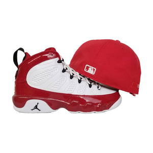 Matching New Era Chicago White Sox Fitted Hat For Jordan 9 Gym Red