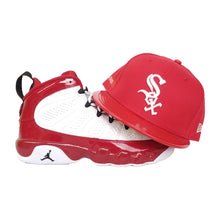 Load image into Gallery viewer, Matching New Era Chicago White Sox Fitted Hat For Jordan 9 Gym Red