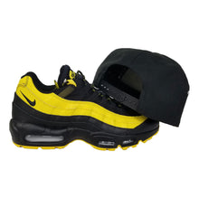 Load image into Gallery viewer, Matching New Era Florida Marlins Snapback for Nike Air Max 95 Yellow / Black