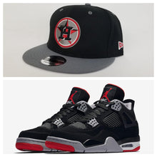 Load image into Gallery viewer, Matching New Era Houston Astros 9Fifty Snapback Hat for Jordan 4 Bred