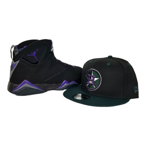 Matching New Era Houston Astros 9Fifty Snapback hat for Jordan 7 Ray Allen