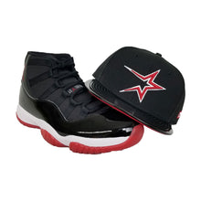 Load image into Gallery viewer, Matching New Era Houston Astros Fitted Hat For Jordan 11 Bred