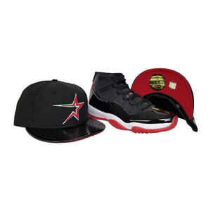 Matching New Era Houston Astros Fitted Hat For Jordan 11 Bred