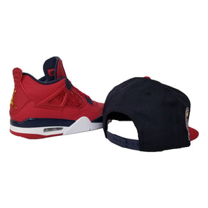 Matching New Era Los Angeles Angels Snapback Hat For Jordan 4 FIBA
