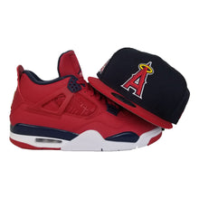 Load image into Gallery viewer, Matching New Era Los Angeles Angels Snapback Hat For Jordan 4 FIBA