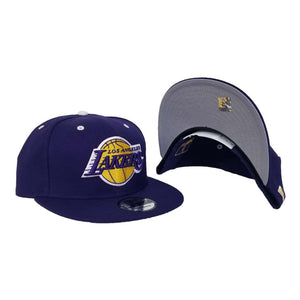 Matching New Era Los Angeles Lakers Snapback Hat For Jordan Legacy 312 Lakers