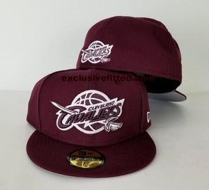 Matching New Era Maroon Cleveland Cavaliers Fitted Hat for Jordan 12 Bordeaux