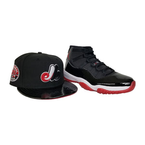 Matching New Era Montreal Expos Snapback Hat For Jordan 11 Bred