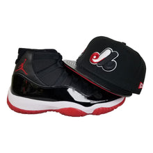 Load image into Gallery viewer, Matching New Era Montreal Expos Snapback Hat For Jordan 11 Bred
