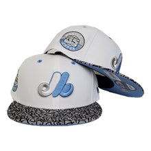 Load image into Gallery viewer, Matching New Era Montreal Expos Snapback Hat For Jordan 3 UNC
