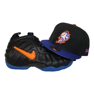 Matching New Era Mr. Mets Fitted Hat For Nike Foamposite Knicks