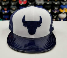 Load image into Gallery viewer, Matching New Era NBA Chicago Bulls Fitted Hat for Jordan 11 Midnight Navy