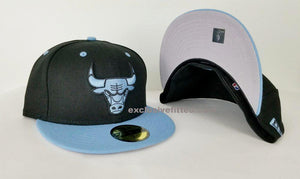 Matching New Era NBA Chicago Bulls Fitted Hat for Jordan 6 UNC Blue
