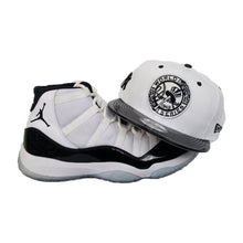 Load image into Gallery viewer, Matching New Era New York Yankees 1949 WS Snapback for Jordan 11 White Black Concord