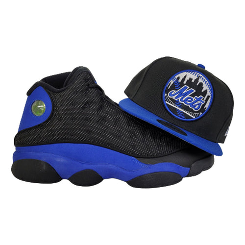 Matching New Era New York Mets 9Fifty Snapback Hat for Jordan 13 Hyper Royal