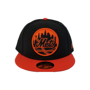 Matching New Era New York Mets Fitted Hat For Nike Foamposite Habanero Red