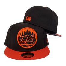 Load image into Gallery viewer, Matching New Era New York Mets Fitted Hat For Nike Foamposite Habanero Red