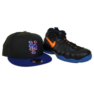 Matching New Era New York Mets Snapback Hat For Nike Foamposite Knicks