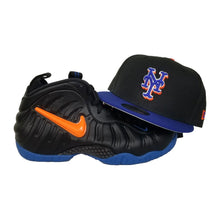 Load image into Gallery viewer, Matching New Era New York Mets Snapback Hat For Nike Foamposite Knicks