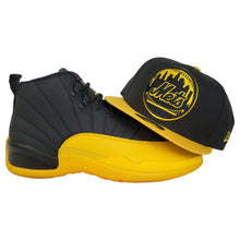 Load image into Gallery viewer, Matching New Era New York Mets Snapback for Jordan 12 University Gold