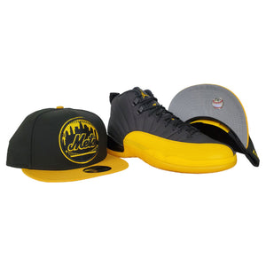 Matching New Era New York Mets Snapback for Jordan 12 University Gold