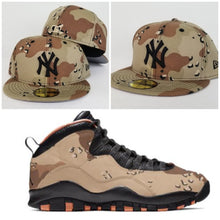 Load image into Gallery viewer, Matching New Era New York Yankees Fitted hat for Jordan 10 Desert Camo