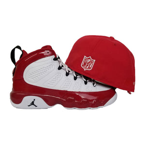 Matching New Era Oakland Raiders Fitted Hat For Jordan 9 Gym Red