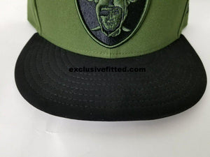 Matching New Era Oakland Raiders Fitted Hat for Nike Foamposite Legion Green Foams