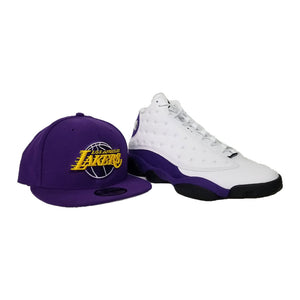 Matching New Era Purple Los Angeles Lakers Snapback for Jordan 13 Lakers