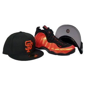 Matching New Era San Francisco Giants Fitted Hat For Nike Foamposite Habanero Red